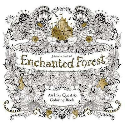 Enchanted Forest: An Inky Quest & Coloring Book [US Imp - Paperback NEW Johanna