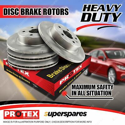 Protex Front + Rear Disc Brake Rotors for Jeep Wrangler JK 2.8L 3.8L 07-on