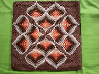 Finished Cushion Cover Needlepoint   Geometric  Superb  40 cm x 40 cm