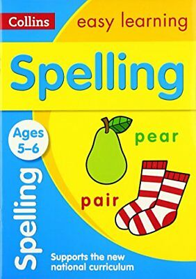 Spelling Ages 5-6: New Edition Coll by Collins Easy Learning New Paperback Book