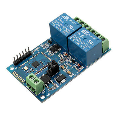 DC12V 2 Channel Bluetooth Relay IOT Smart Home APP Remote Control Switch