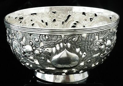 Chinese Export Silver Dragon Bowl, c.1890