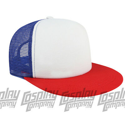 a7901cc85a237 Dustin Cap Cosplay Mesh Baseball Trucker Cap Hat Stranger Costume Things