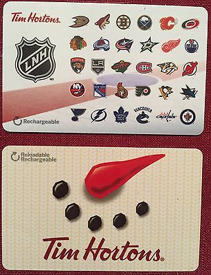 Tim Hortons Nhl Hockey &holiday 2016 French Mint Gift Card Rechargeable