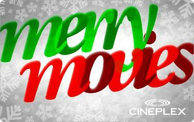 Cineplex Mint Gift Card From Canada Merry Movies No Value Rechargeable !