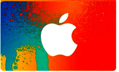Apple iTunes MINT GIFT CARD FROM CANADA orange BILINGUAL NO VALUE RECHARGEABLE