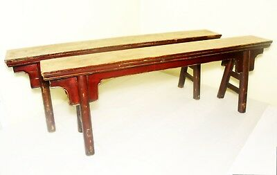Antique Chinese Ming Bench (Pair)(2855), Circa 1800-1849