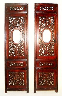 Antique Chinese Screen Panels (2827)(Pair), Cunninghamia Wood, Circa 1800-1849