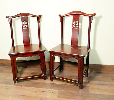 Antique Chinese High Back Chairs (5504) (Pair), Circa 1800-1849