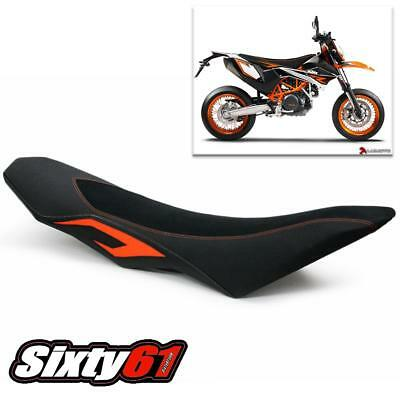 KTM Enduro R SMC SMC-R Seat Cover Luimoto 2008-2018 Suede Carbon Black Orange