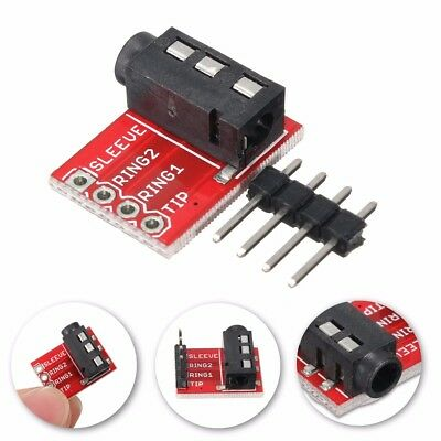 50pcs 3.5mm Plug Jack Stereo TRRS Headset Audio Socket Breakout Board Extension