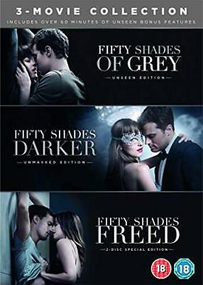 Fifty Shades Freed 3-Movie Boxset (DVD + Bon with Dakota Johnson New (DVD  2018)