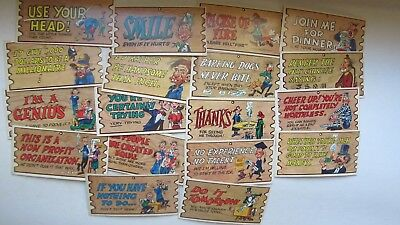 LARGE LOT & Variety of Comic 1959 WACKY PLAKS, Humor Cards, Jack Davis Art, GIFT