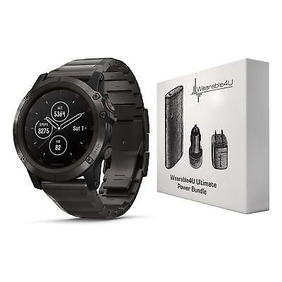 Garmin Fenix 5x Plus Gps Watch W Titanium Band Wearable4u Bundle 010 01989 04
