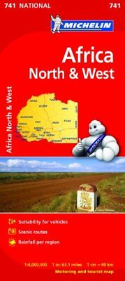 Africa North & West - Michelin National Map 741 New Sheet map Book