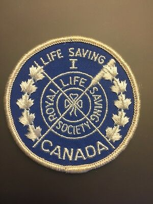 "Vtg Royal Life Saving 1 Society Sew On Embroidered Patch 3"" Badge Canada One"