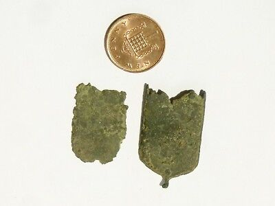 Medieval Strap End 3 sections a/f Metal Detector Find - Ex Martins Lot #CM98