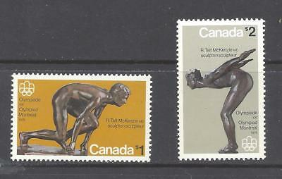 Canada 1975 OLYMPIC SCULPTURES Scott 656 & 657 VF MINT NH (BS3927-1)