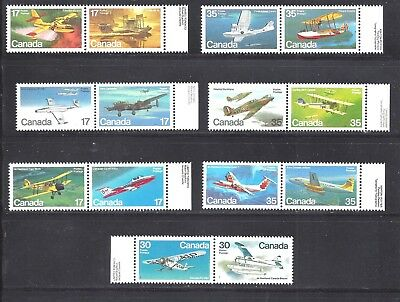 Canada SELECTION OF AIRCRAFT Scott 843/970 MINT NH (BS7948-7)