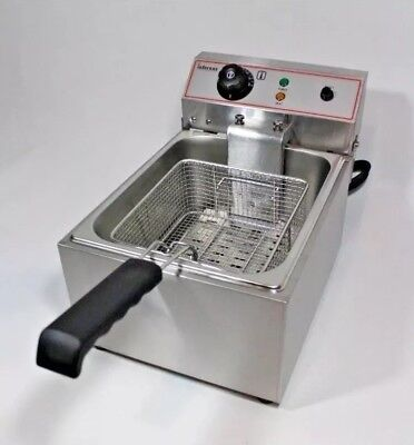 3KW 8 Litre Electric Deep Fryer Fat Chip Commercial Counter-top, high quality