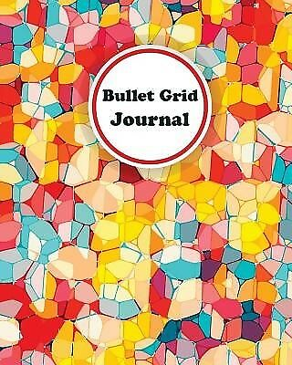 Colorful Stained Glass: Bullet Grid Journal, 150 Dot Grid Pages ( 9781548681340