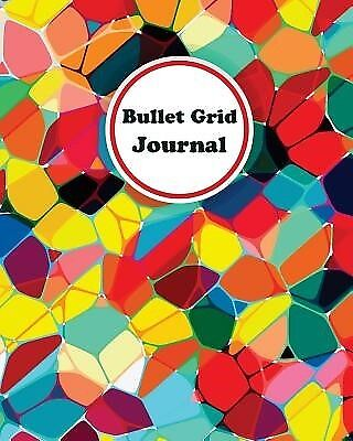 Colorful Stained Glass Bullet Grid Journal 150 Dot Grid Pages ( by Journal Happy