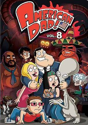 American Dad Volume 8 Eight (3-Disc DVD Set) NEW Factory Sealed, Free Shipping