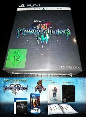 PS4 Kingdom Hearts 3 Deluxe Edition GERMAN PAL EU-Version Brand New sealed