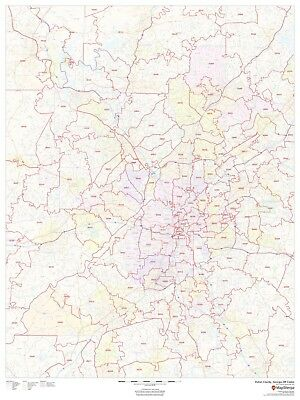Fulton County Georgia Laminated Wall Map Msh 95 00 Picclick