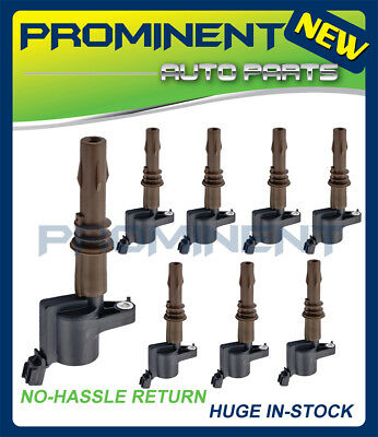 New Set of 8 Brown Boot Ignition Coils For 2008-16 Ford Lincoln Mercury