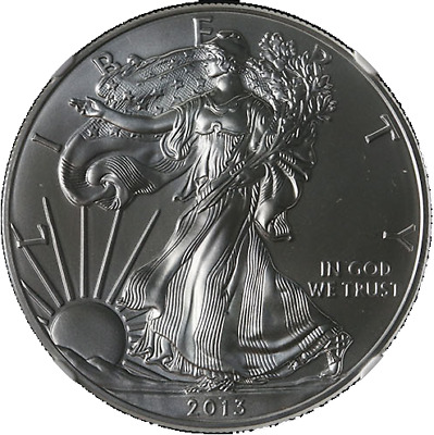 2013-W Silver American Eagle $1 NGC MS70 Brown Label - Stock Item