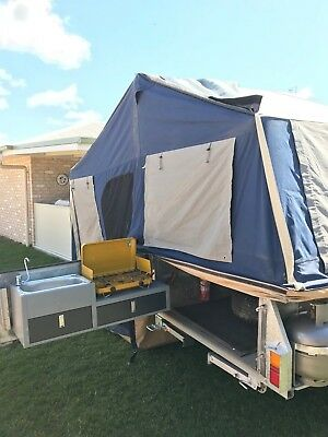 camper trailer, purpose built for outback use.