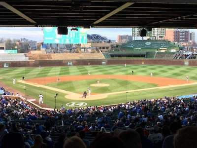4 tickets LOWER BEHIND HOME Chicago Cubs vs Marlins 5/6/19 Wrigley Field 5/6