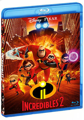 Incredibles 2 Blu-Ray (2 disc set) New/ Region Free + Additional materials
