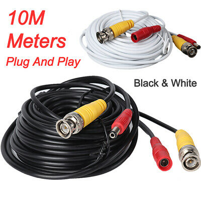 UK 10M Meter CCTV Security Camera DVR BNC Video & DC Power Cable PRE-MADE Lead