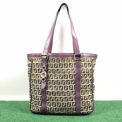 a4f3c6da0777 FENDI PURSE - Authentic Selleria Carla Tote Bag - Gray -  900.00 ...