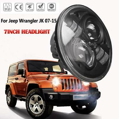 7inch H4 200W High-Low Beam LED Driving Light Round DRL Headlight 4x4WD Offroad