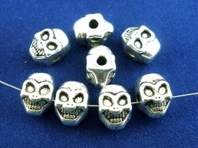 30 Completely Freaky Weird and Spookily Ugly Skull Like Solid Metal Beads