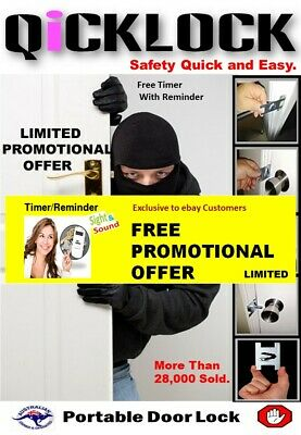 A Security Portable Door Lock , Anywhere Any Time .No Key Required