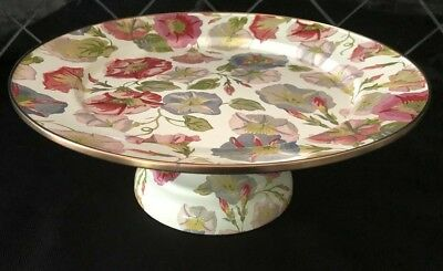 MacKenzie-Childs Morning Glory Pedestal Platter ~ SMALL ~ SOLD OUT ~ #89422-0032