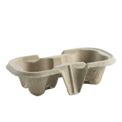 2 Cup Carry Trays Takeaway Carrier Cardboard Tea Coffee Cup Holders - 1-360