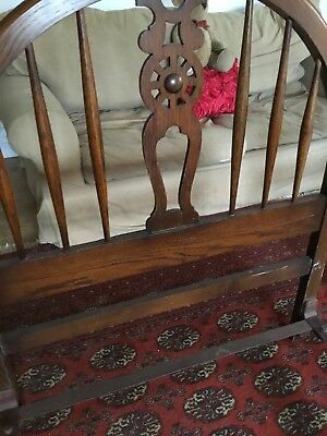 Vintage Oak Single Bed Cottage Style Heals Antique 1920 Country 1 Of 2 listed