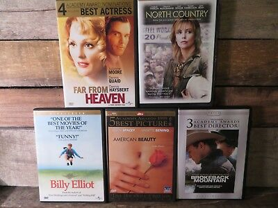 5 DVD Lote Lejos From Heaven Billy Elliot North País Brokeback Mountain American