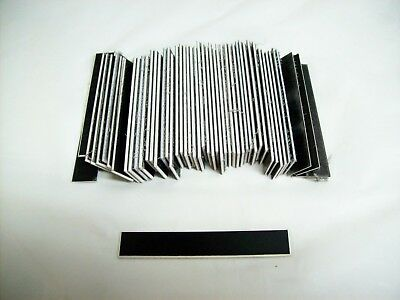 "50 Blank Lamacoid Black/White Core 1/2 x 3"" Plastic Engraving Plates Legends"