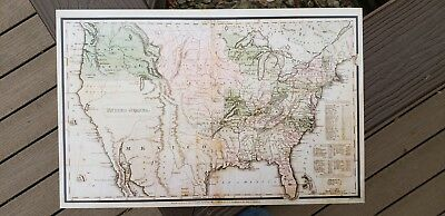 Historical Map, Unites States Territory Map, Vintage 1830 United States Map