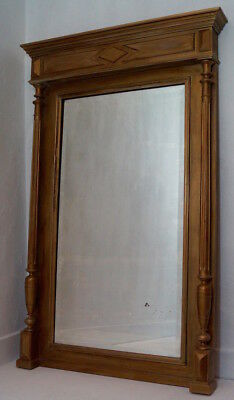 Superb Antique French Henri II Overmantle Mirror