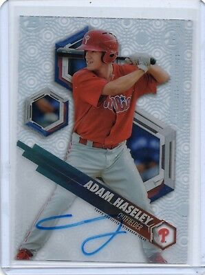 2018 Bowman High Tek Prospect Autographs #PHTAH Adam Haseley