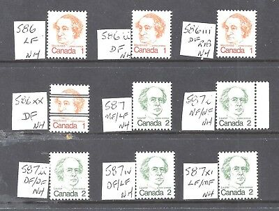 Canada SELECTION OF DIFFERENT SCOTT 586 & 587 MINT NH (BS11657-1)