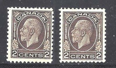 Canada KGV YELLOW AND WHITE GUM SCOTT 196 MINT NH (BS11750-2)