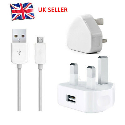 Genuine CE Mains Charger For Samsung Galaxy S6 S7 Edge Note 5 HTC LG USB Cable